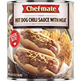 Chef-mate Hot Dog Canned Chili Sauce with Meat, Ready to Eat, 6 lb 12 oz (#10 Can Bulk)