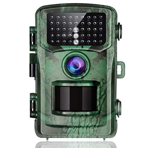 """TOGUARD Wildkamera 14MP 1080P Infrarot Nachtsicht Bewegungsmelder Jagdkamera 120°Weitwinkel 22m mit 2.4\"""" LCD-Display IP56 wasserdichte Überwachungskamera für Wildlife Jagd und Haussicherheit"""