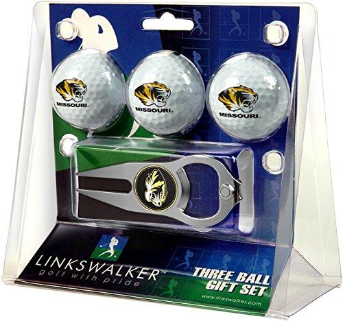 LinksWalker 3Missouri Tigers-3Ball Geschenk Pack mit Hat Trick Pitchgabel, Weiß, One Size
