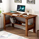 Usdian Computer Desk 39' Study Writing Table Gaming Desk for Home Office Living Room, Modern Simple Style Computer Desk,Office Desk (Brown)