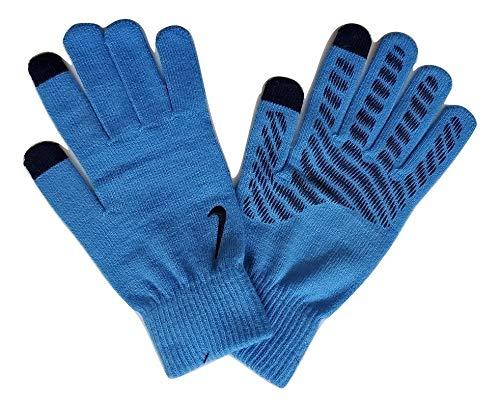 Nike - Guanti unisex a maglia, taglia L/XL, colore: Blu/Nero