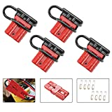 BUNKER INDUST 50A 6-10 Gauge Battery Quick Connect Disconnect Wire Harness Plug Kit 4 Pcs ...
