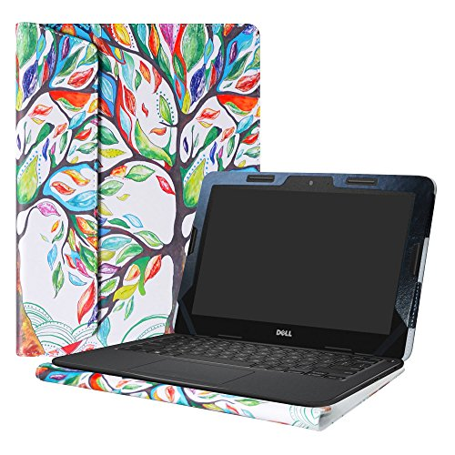 Alapmk Protective Case Cover For 11.6' Dell Chromebook 11 5190/Chromebook 5190 3100 2-in-1 Education/Latitude 11 2-in-1 3190 3189 Education/Inspiron Chromebook 11 2-in-1 3181 Laptop,Love Tree
