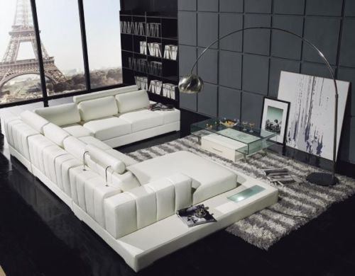 YIL T63 Leather Sectional Sofa