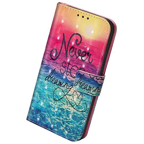 Herbests Kompatibel mit Samsung Galaxy Note 10 Lite Hülle Leder Handyhülle Bunt Glänzend Glitzer Muster Klapphülle Brieftasche Schutzhülle Flip Case Tasche Ständer Kartenfächer,Sonne
