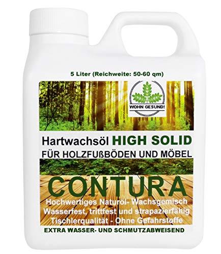 5 Liter Contura HARTWACHSÖL Premium High Solid Holzöl Parkettöl Fussbodenöl Möbelöl Wachs Holzwachs Farblos anfeuernd Hartöl Holzschutz