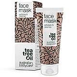 Australian Bodycare Face Mask 100 ml – Maschera esfoliante contro punti neri e brufoli - Adatta per tutti i tipi di pelle – Maschera vegana per viso con olio dell'albero del tè di qualità farmaceutica