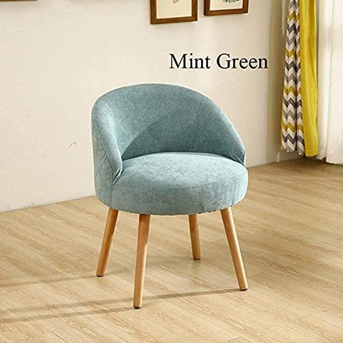 Sillas - Silla de comedor de ocio, sala de estar casual muebles para el hogar de madera maciza comedor silla cómoda, verde menta
