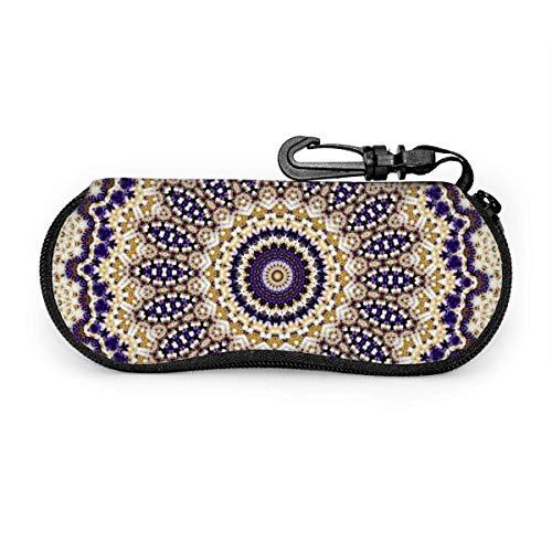 lymknumb Diseño abstracto en púrpura y granate Estuche para gafas Estuche para gafas Estuche para gafas portátil Estuche para gafas portátil con cerradura con llave
