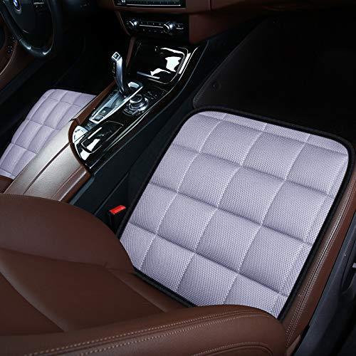 Autostoelkussen Pad voor autobestuurder Bureaustoel, Computerstoel met antislipbodem Geheugen Carbon zitkussen (grijs, 2 voor)