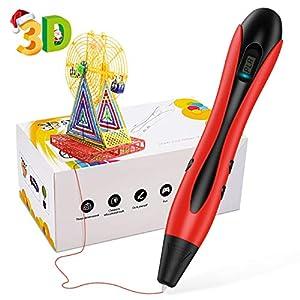 EUTOYZ Juguetes Niñas 8 9 10 11 12 Años Juguetes Niña, Pluma de Impresión de Dibujo 3D para Niños Boligrafo 3D Printer Regalos para Niñas de 8 9 10 11 12 Años Juguetes Educativos Rojo