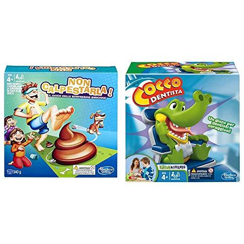 Hasbro Gaming-Non Calpestarla Edizione Standard (Gioco in Scatola), Colore Nd, E2489103 &Gaming - Cocco Dentista (Gioco in Scatola), B0408103, 4 Anni +