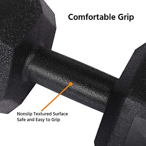 Yaheetech 2x10kg Portable Dumbbells Hand Weights Set Dumbbells for Home Fitness Sporting Training, Sold in Pair Black