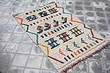 SoloBonito 0059 Azilal Tapis tissé à la main en laine vierge de qualité supérieure 90 x 155 cm