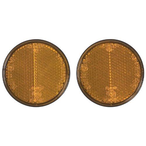 Cartrend 80136 Rückstrahler, rund, 2 Stück, gelb