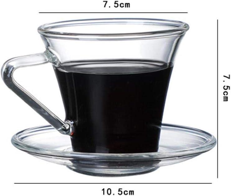 arthomer Tasse Verre Cafe 180ml Tasse Expresso R/ésistant /à La Chaleur Transparent pour Le Caf/é Au Lait Latte Espresso Th/é Glac/é Au Lait 7,5 X 10,5cm
