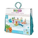 SAGO mini Juguetes de Baño: Aqua Puzzles-Island Adventure, Color Incluye 23 Piezas encajables Extra Grandes (Spin Master 6041222)
