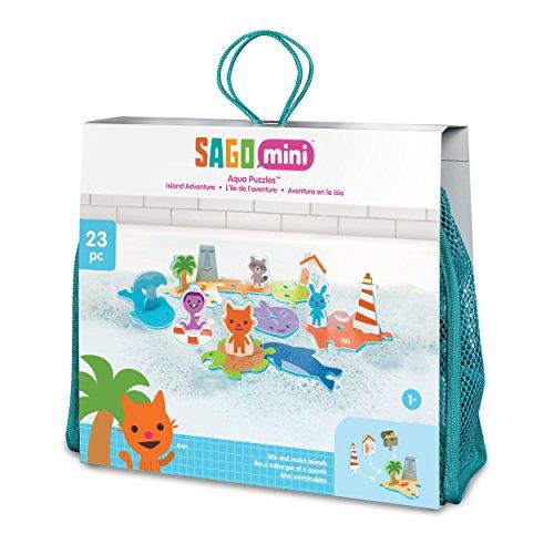 SAGO mini- Juguetes de Baño: Aqua Puzzles - Island Adventure, Multicolor (Spin Master 6041222)