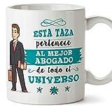 MUGFFINS Abogado Tazas Originales de café y Desayuno para Regalar a Trabajadores Profesionales - Esta Taza Pertenece al Mejor Abogado del Universo -