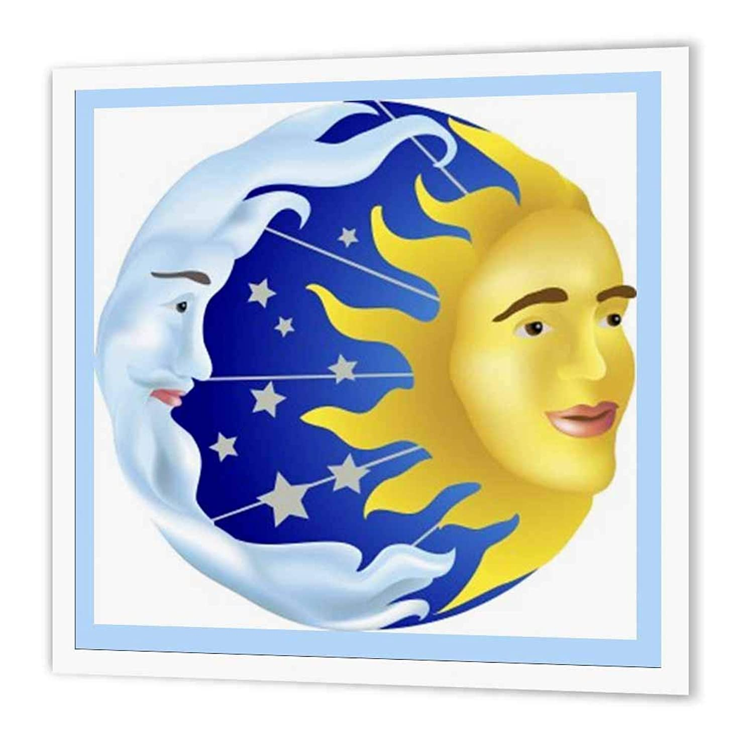 3dRose ht_39599_3 Sun Moon and Stars-Iron on Heat Transfer for Material, 10 by 10-Inch, White
