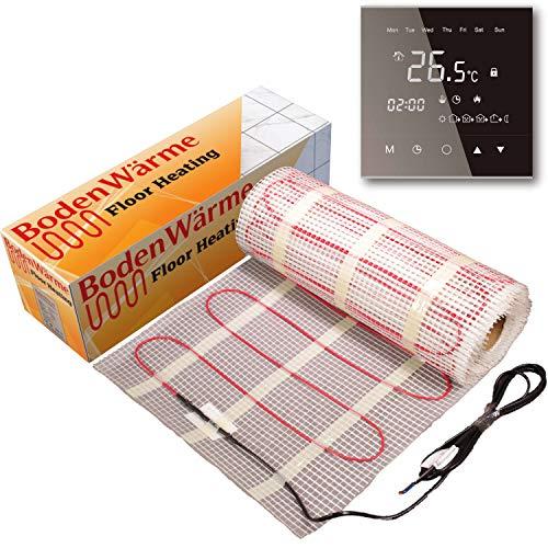 BodenWärme - Alfombra con calefacción y termostato (para colocar bajo el suelo, 150 w/m²)