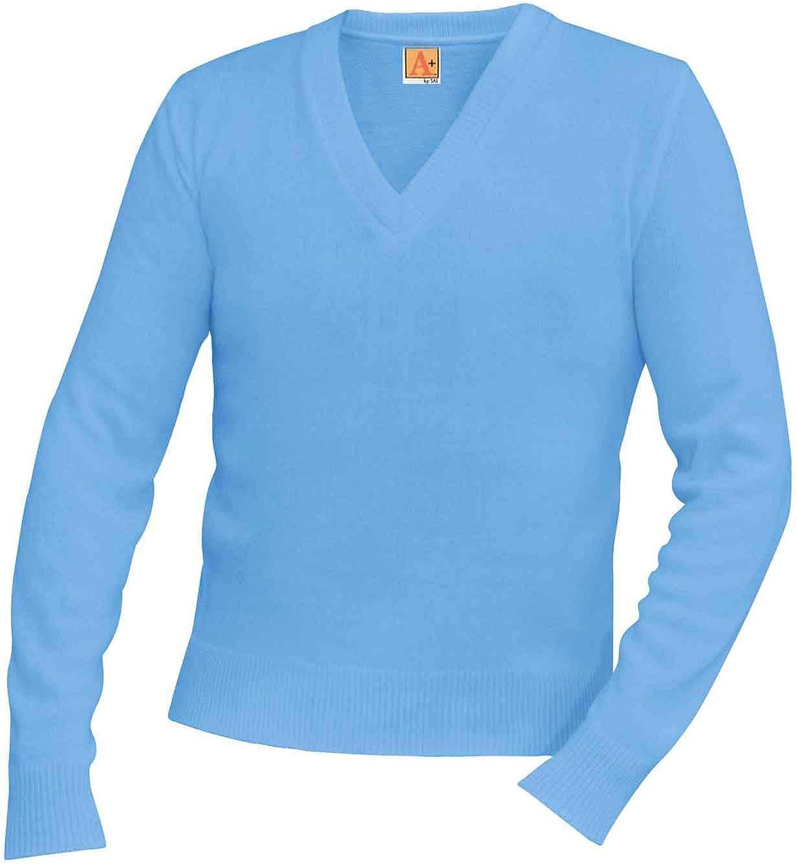 A-PLUS SUPPLY School Uniform Unisex V-Neck Pullover Sweater