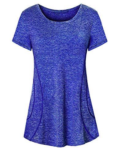 Cucuchy - Camisas de yoga para mujer con fluidez para entrenamiento de fitness, M