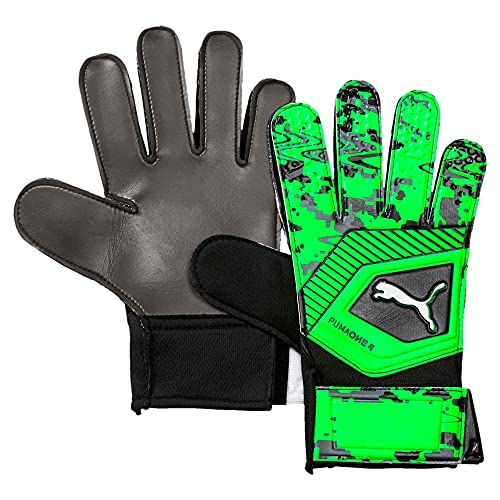 PUMA ONE Handschuh, Black-Charcoal Grau-Grün Gecko, 4 D(M) US