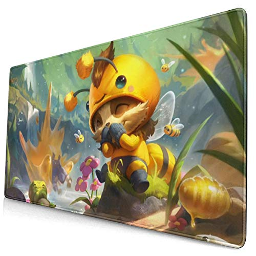 Large Gaming Mouse Pad for Beemo Teemo, Extended Long Desk Pad 12'x24' Mousepad Non-Slip Rubber Stitched Edges Keyboard Pad for Computers Laptop