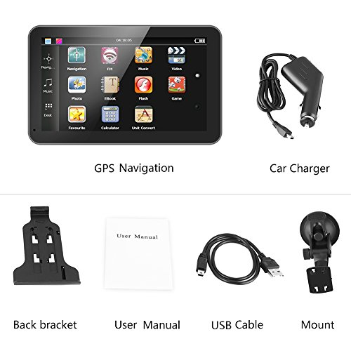 Lowest Price! 7 Inch Touch Screen GPS Navigation Maps System Device International, GPS Navigator 128...