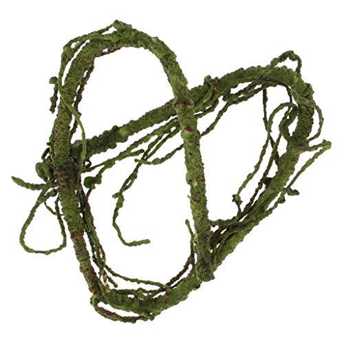 perfk Flexibler Rebe Dschungel Reben künstliche Pflanzen Terrarium Deko für Reptilien Eidechsen Frosch Schlangen