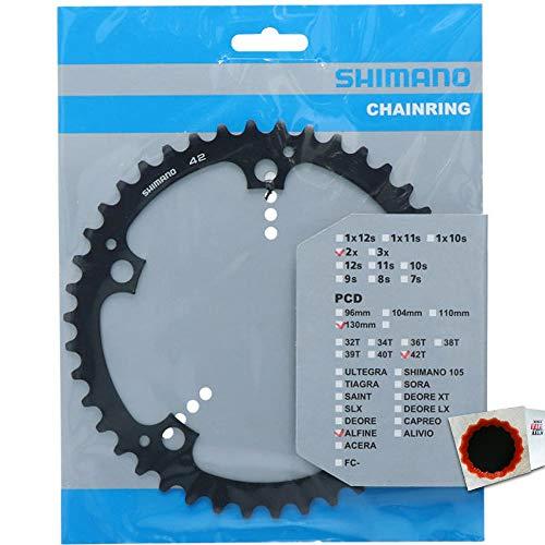 SHIMANO Kettenblätter ALFINE FC-S501 42 Zähne 130mm Aluminium schwarz Fahrrad