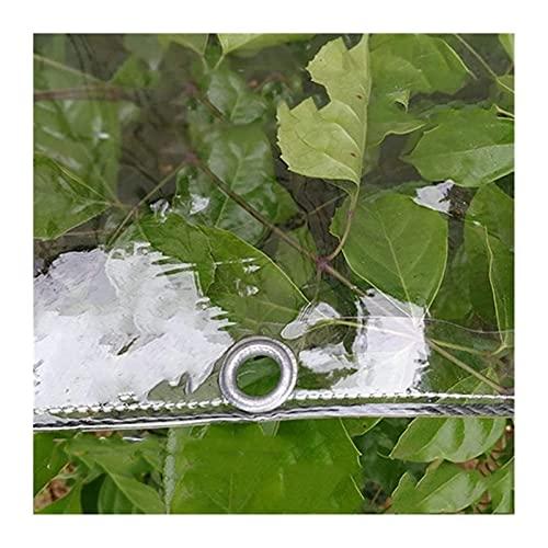 GAXQFEI Durchsichtiger Kunststoff Tarp Cover, Balkon Regen Vorhänge, Nylonseil Verstärkt Hem Reißfestigkeit Stofföse Für Überdachungen, Swimming-Pool, Gartenmöbel,Clear,0.8 * 2M