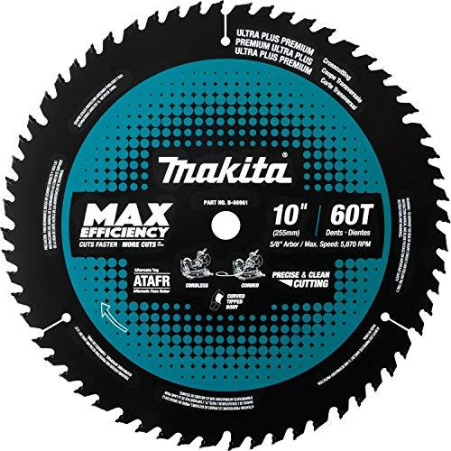 "Makita B-66961 10"" 60T Carbide-Tipped Max Efficiency Miter Saw Blade"