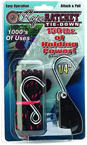 Hydrofarm CN10010 Poulie à Cliquet 1,6 cm avec Corde en Nylon pour Usage Intensif 3,1 cm