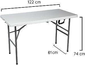 Papillon 8043810 - Mesa Plegable Rectangular 122 x 61 x 74 cm