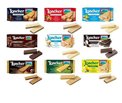 ローカー ミニ シリーズ ウエハース 9種 食べ比べ 味比べ セット loacker イタリアのウエハース イタリアのお菓子 輸入菓子 海外菓子 イタリアのウエハース ヨーロッパのおかし