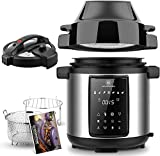 1829 CARL SCHMIDT SOHN 6Qt Pressure Cooker & Air Fryer Combo - All-in-One Multi-Cooker with Pressure & Air Fryer Lid, Steamer Cooker, 1500W Pressure, LED Touchscreen, Air Fryer with 3Qt Air Fry Basket
