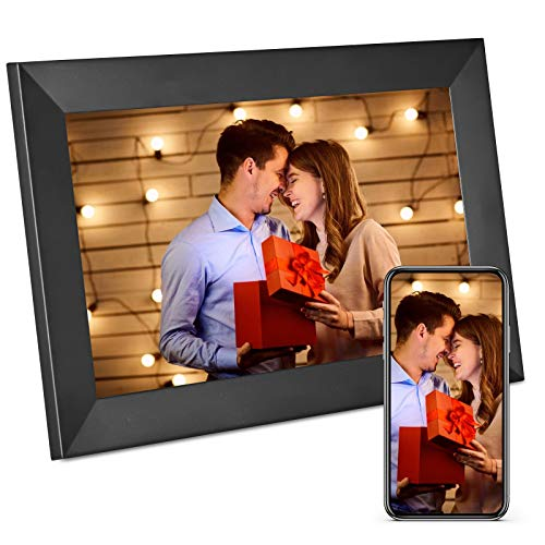 SEAAN Digitaler Bilderrahmen,10,1-Zoll-WiFi digitaler Fotorahmen ,automatische Drehung,mit Bewegungssensor und 16 GB Speicher mit Bild /Musik/ Film/ Kalender,1280 x 800 IPS-Touchscreen