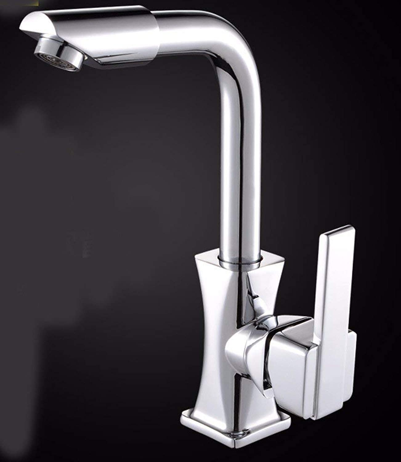 Oudan European style retro style copper Basin Height up Hot and cold Faucet