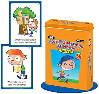 Super Duper Publications WH Questions at Home Fun Deck Flash Cards Educational Learning Resource for Children