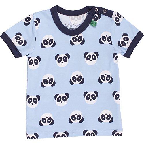 Fred'S World By Green Cotton Panda s/SL T Boy Baby T-Shirt, Bleu (Blue 015392001), 3 Mois Bébé garçon