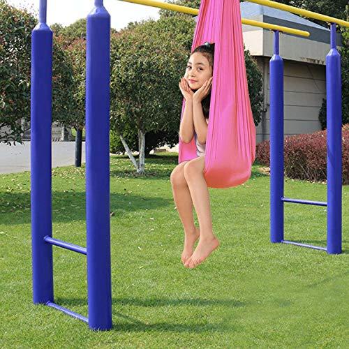 LSRRYD Hamaca Columpio Infantil, Columpio Interior Elástico Abrazar Hamaca Swing sensorial, Ideal para TDAH, Aspergers (Color : Pink, Size : 100 * 280cm)