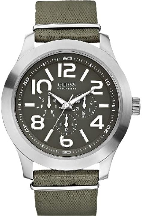 Orologio guess w10617g1 mens rugged green watch