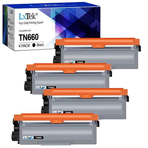 LxTek Compatible Toner Cartridge Replacement for Brother TN660 TN-660 TN630 TN-630 to use with HL-L2300D HL-L2380DW HL-L2340DW HL-L2320D MFC-L2740DW DCP-L2540DW Printer(4 Black), High Yield