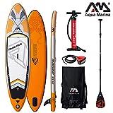 Aqua Marina Magma 2019 SUP Board Inflatable Stand Up Paddle Surfboard Paddle, Board+Carbon Paddle+Leash