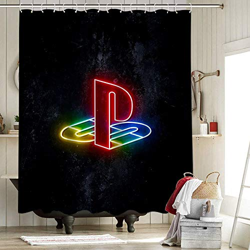 Final Fantasy Xiv White Mage Neon Shower Curtain Set Polyester Fabric Shower Curtain Set Gaming Playstation Controller Consoles Modern Spartan Veteran Rose Of Success 72X72 Inch