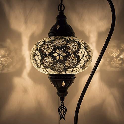 Lampada turca (10 variazioni) - Lampada da tavolo a mosaico fatta a mano - Lampada decorativa marocchina - Lampade rustiche Cool Mosaico - Lampadina LED inclusa con scatola speciale… (3)