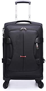GLJJQMY Trolley Case Business Fashion Suitcase 28 Inch Shipping Box 20 Inch Boarding Case, Black Trolley case