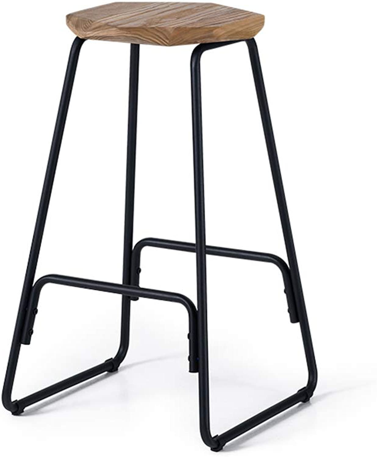 Floor-Standing high Bracket Bar Stool Portable Wrought Adjustable Stool Leg Modern Minimalist bar Chair Solid Wood high Stool Retro Stool Suitable for Counter Kitchen Breakfast Chairs